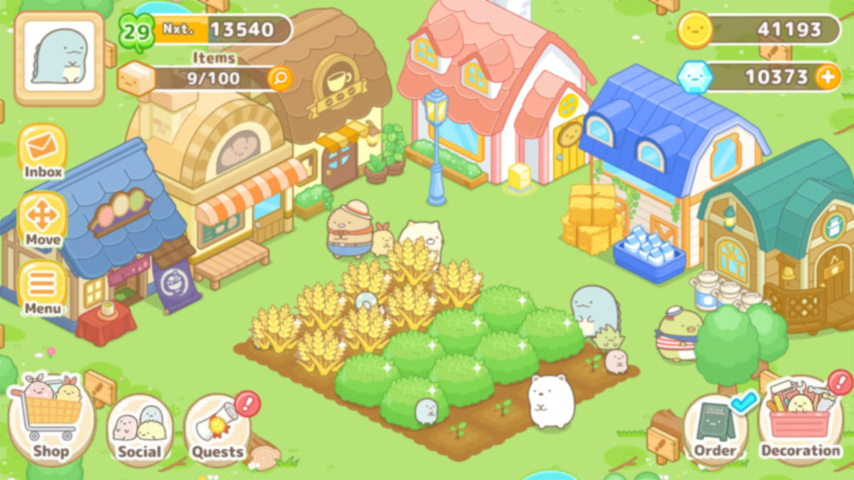 A screenshot of Sumikkogurashi Farm