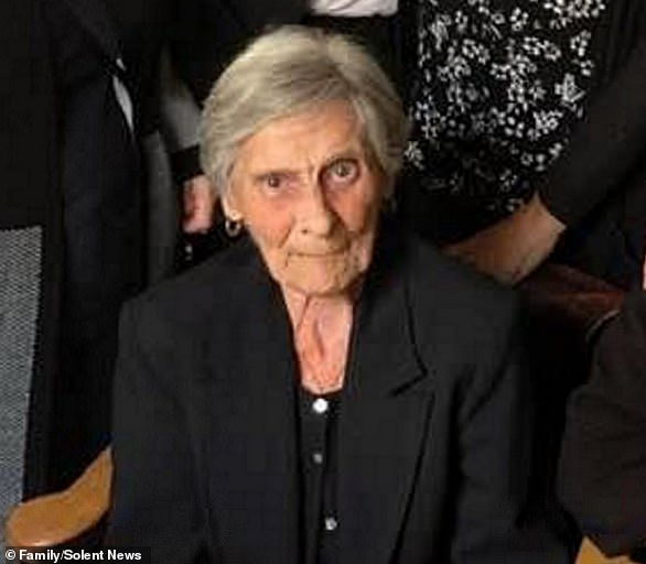 Gillian Orman, from Southampton, called the NHS after the death of her mother, Kathleen Brecknell (pictured), 86,
