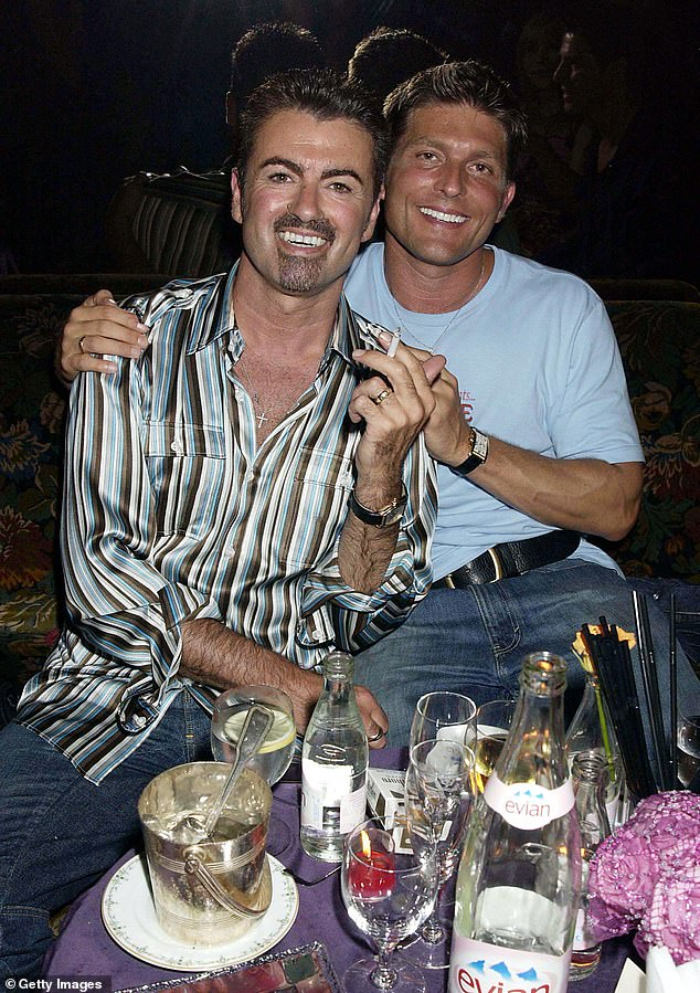 Kenny Goss, George Michael's ex-boyfriend, is suing the singer's family in an effort to obtain £ 15,000 a month from the late star's estate.  Pictured: The couple at the time in 2002. They separated in 2011