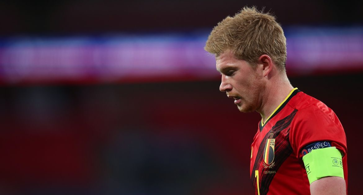 Kevin De Bruyne returns to Manchester City after suffering an injury while on international duty with Belgium