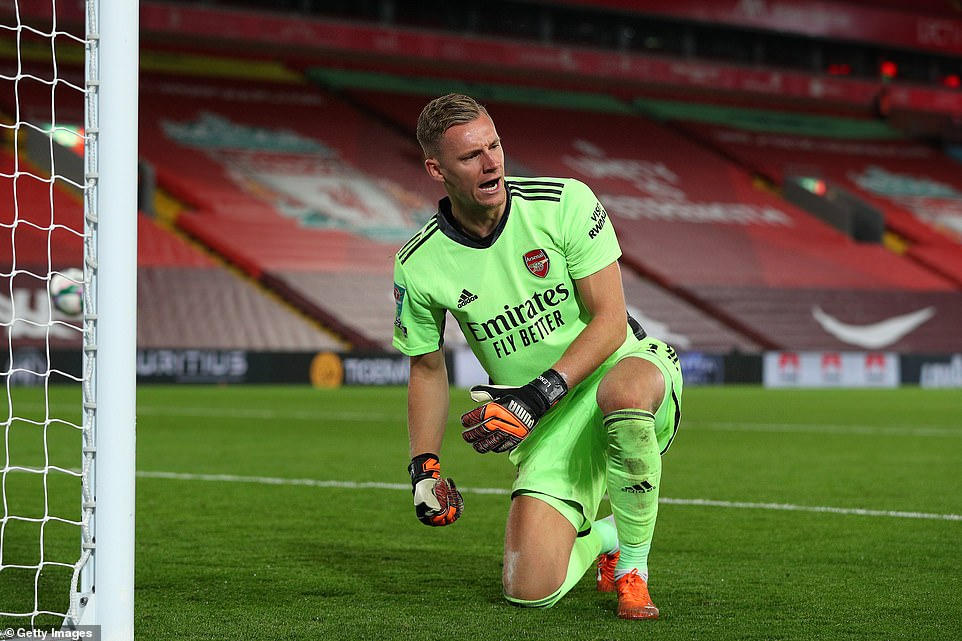 Bernd Leno was the Arsenal champion after saving two penalties to secure a place in the Carabao Cup quarter-finals.