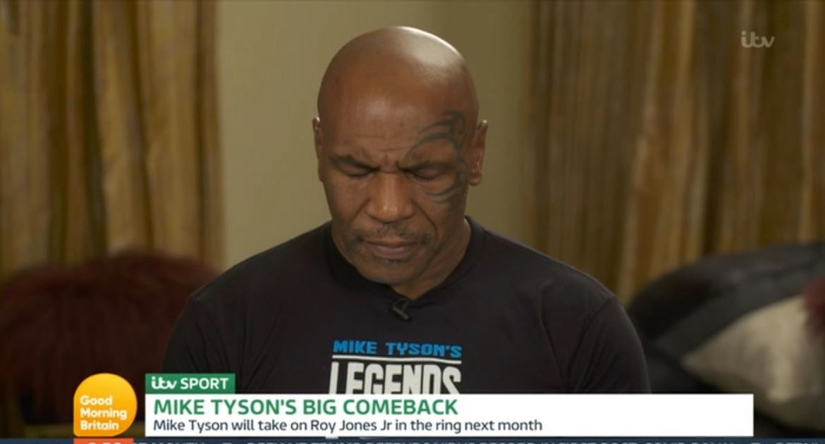 Mike Tyson appears groggy during Piers Morgan's uncomfortable interview