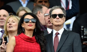 John W. Henry, major owner of Liverpool with wife Linda Pizotti.