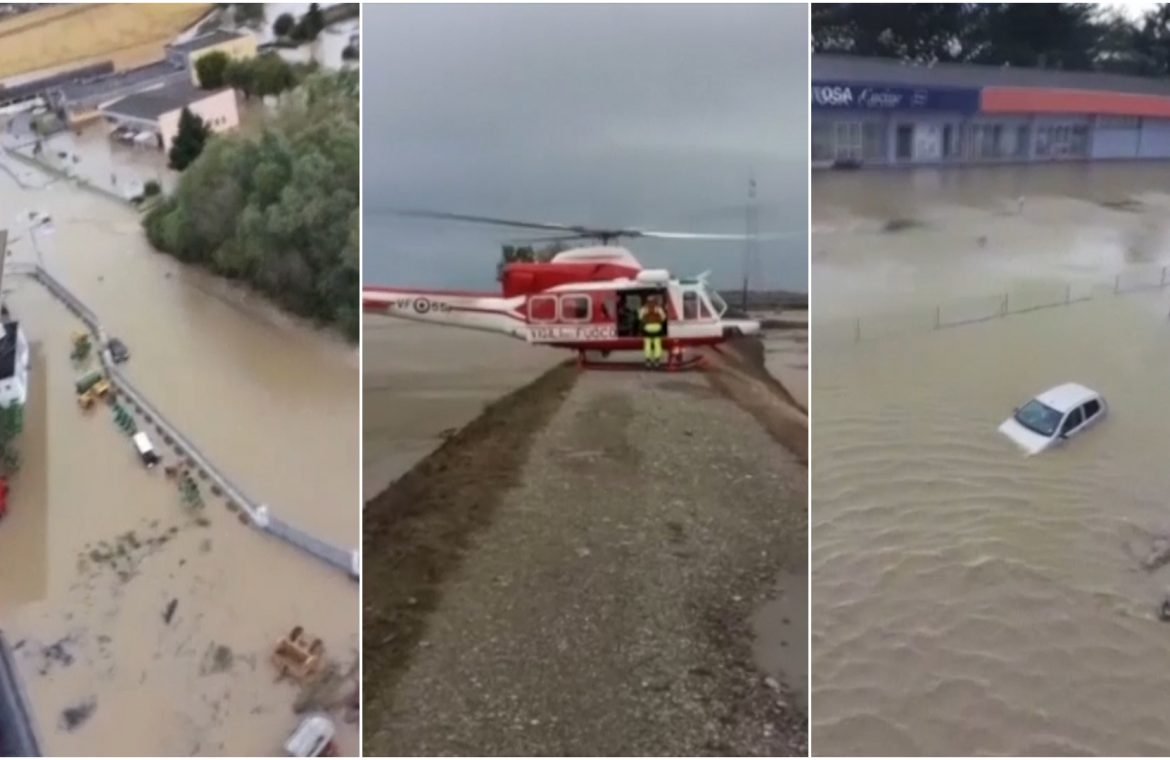 Two people were killed and 24 missing in severe weather in France and Italy as the UK prepares for floods