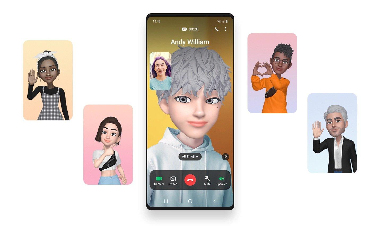 Samsung One UI 3.0 AR Emoji Call Video