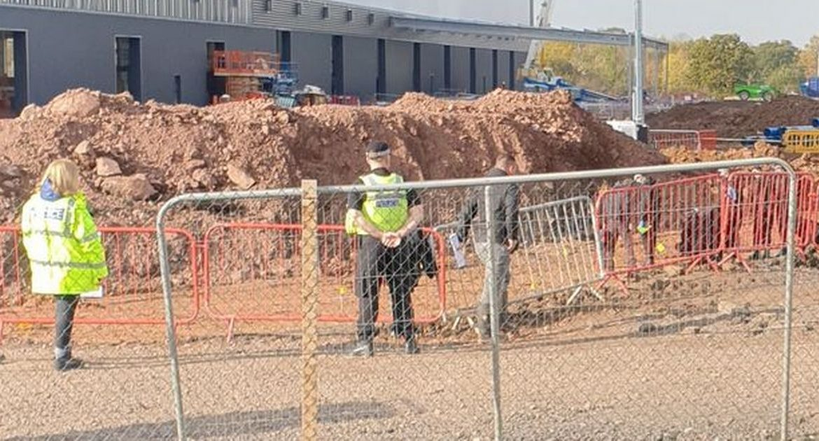 Human remains found near Jaguar Land Rover's factory in Solihull during police investigation