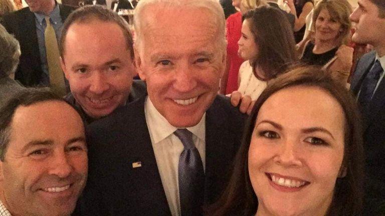 Joe Blouitt gets a selfie with Joe Biden