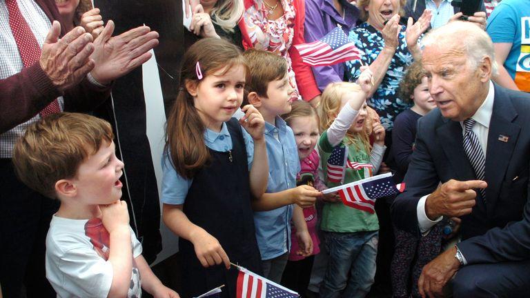 Joe Biden during a visit to Ballina in 2016