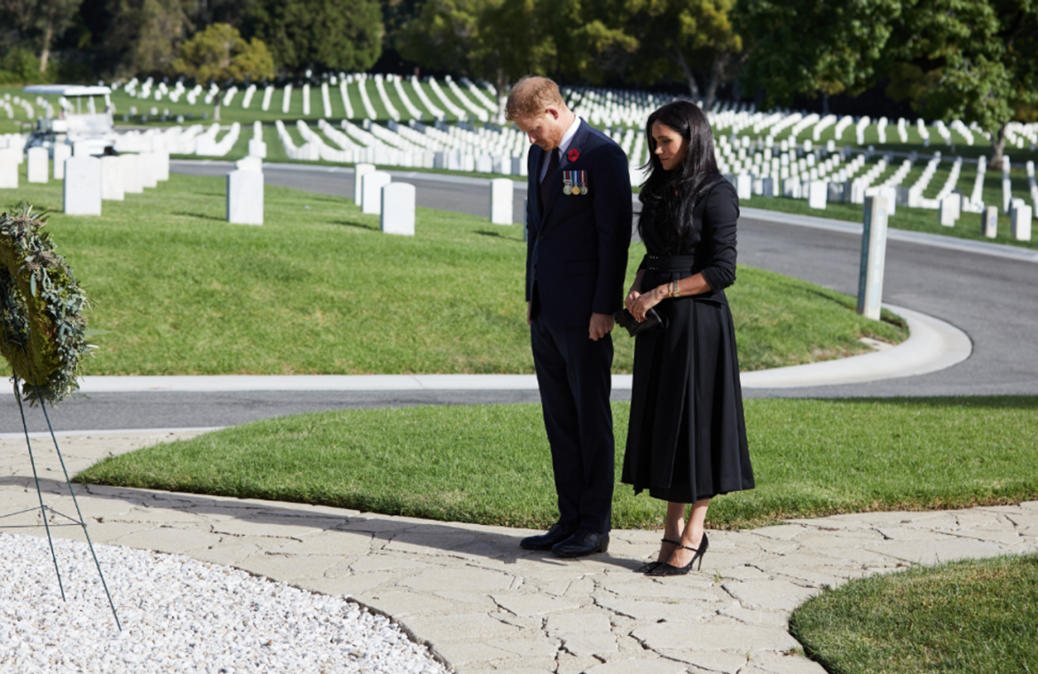 Prince Harry and Duchess Meghan mark Remembrance Sunday in LA