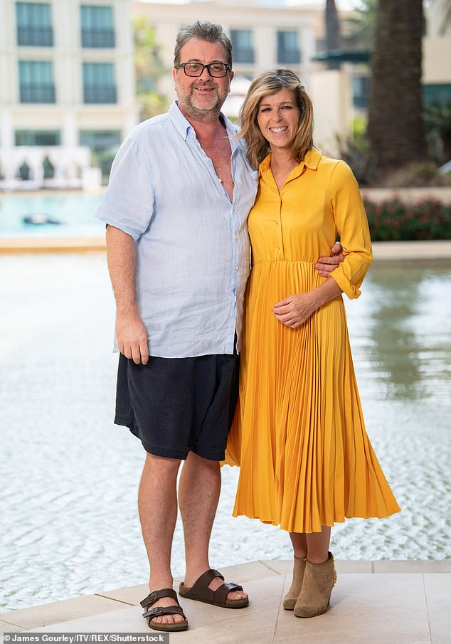 Breakthrough: Kate fought back her tears on Good Morning Britain as she recalls how her husband Derek Draper, 53, spoke his first word since coming out of a coma