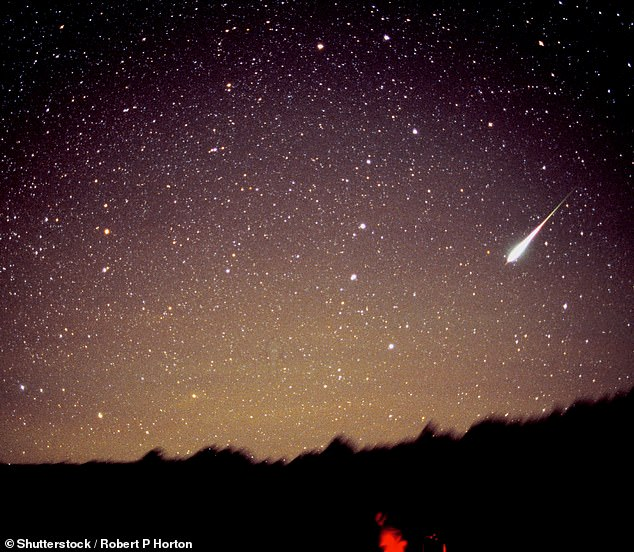 The event peaks overnight from November 16 to November 17, and is known to carry some of the most intense meteor storms - some events saw 50,000 meteors an hour (pictured is the shower in 1998)