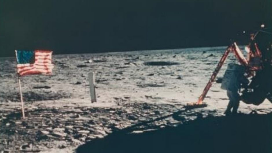 Neil Armstrong in one of 2,400 NASA photographs sold at Christie's auction