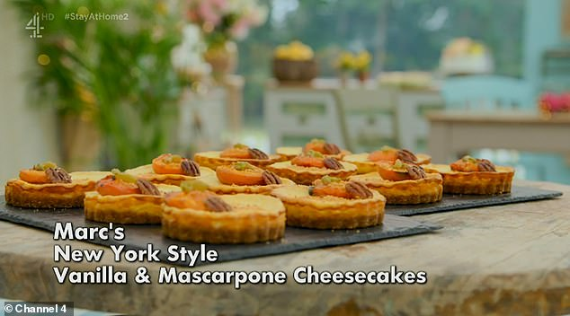 Not impressive: Marc made a vanilla and mascarpone cheesecake the New York style