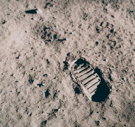 Astronaut Footprint on the Moon, July 16-24, 1969
