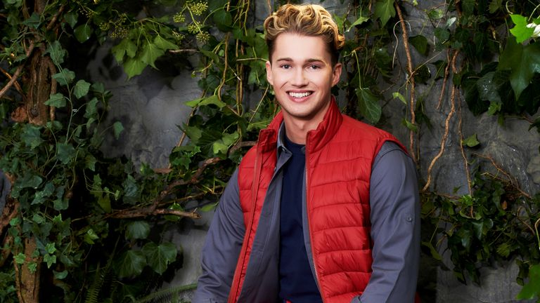 I'm a celebrity ... Get me out of here!  AJ Pritchard.  Pic: ITV