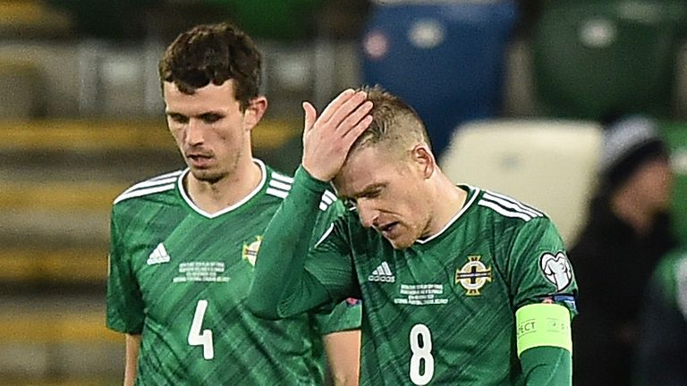 Northern Ireland was denied a second consecutive European appearance in the European Championship after being defeated in overtime by Slovakia