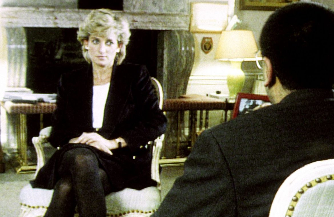 Diana during her interview with Martin Bashir