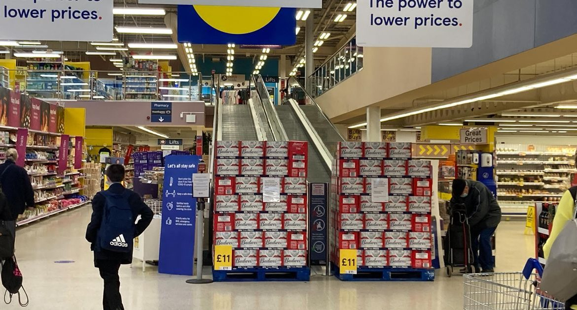 "Tesco is reopening ""non-essential"" sections of stores following criticism from shoppers"