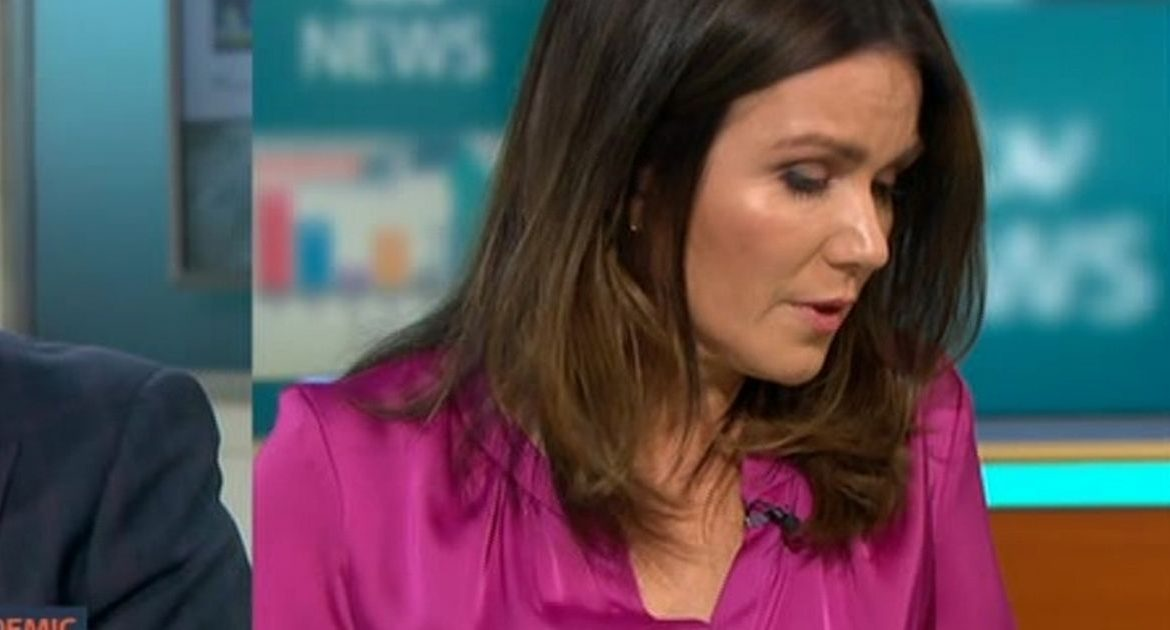 Susanna Reed is suffocating and can't keep going due to a agonizing message from the GMB Show
