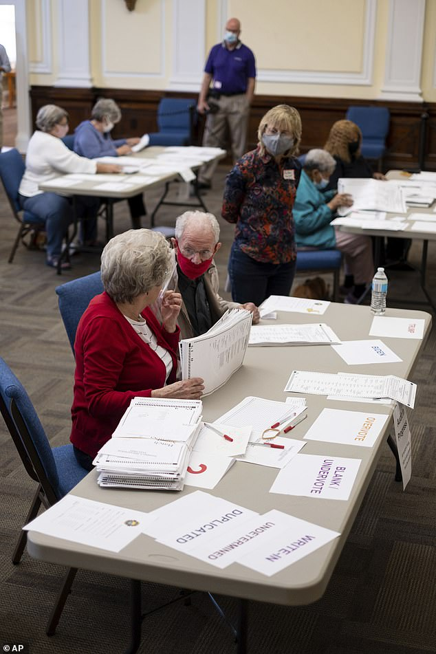 The newly found ballot papers were mostly for President Donald Trump