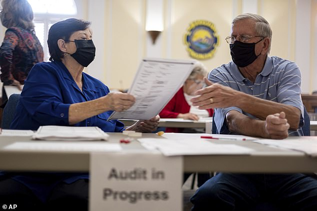 Election officials in Georgia's 159 counties manually count the presidential race that stems from the scrutiny required by state law