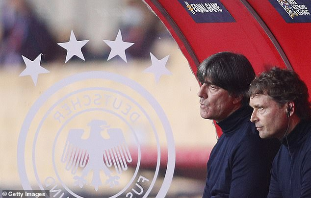 Germany coach Joachim Loew (left) with assistant coach Marcus Sorge during the defeat