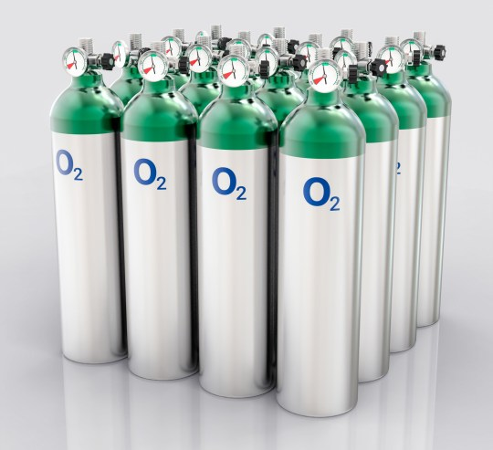 3D insulated oxygen tank.  Hospital equipment illustration;  Shutterstock ID 393638710;  Purchase order: -