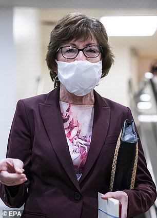 Senator Susan Collins (pictured) also spoke against the president Friday, saying he was hurting the transition by refusing to compromise.