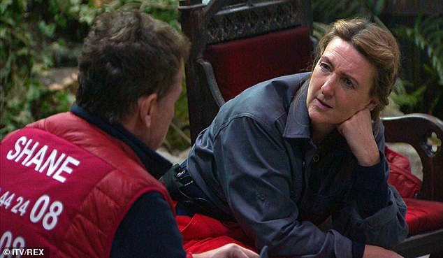 Backstory: Chatting with campmate Victoria Derbyshire Sunday night I'm a celebrity ... Get me out of here!