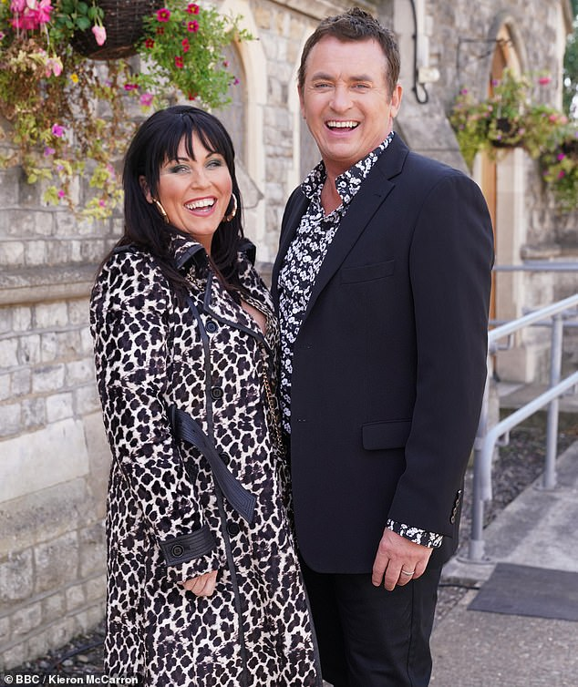 Turning of events: Explains that he was not originally asked to audition for his final role in Two Thousand Moon, and that he was initially sent home without being cast [pictured with on-screen wife Kat, played by Jessie Wallace]