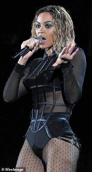Double trouble: In fact, the wet pop, the black suit, and even the chair dance that Jennifer performed on Sunday night looked a lot like Beyoncé's stunned performance.