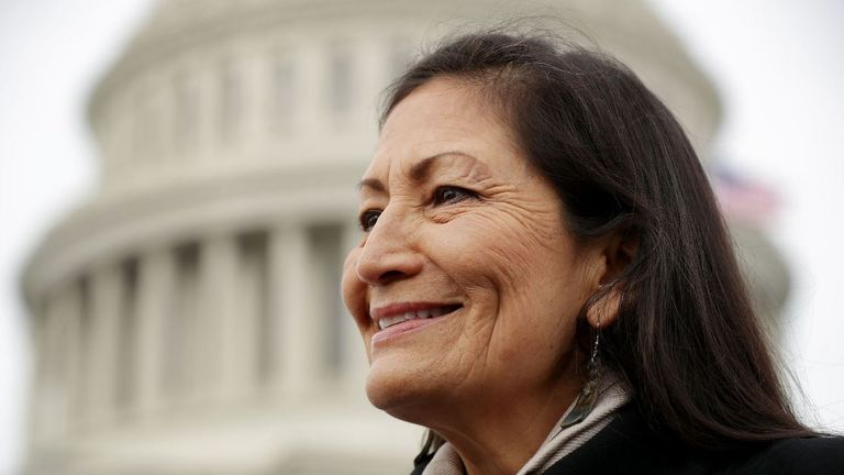 If Deb Haaland were chosen, he would be the first Native American secretary of cabinet