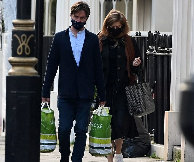 Princess Beatrice was spotted stocking locking supplies today while she and her husband, Eduardo Mapelli Mozi, showed up in Waitrose, Belgravia.