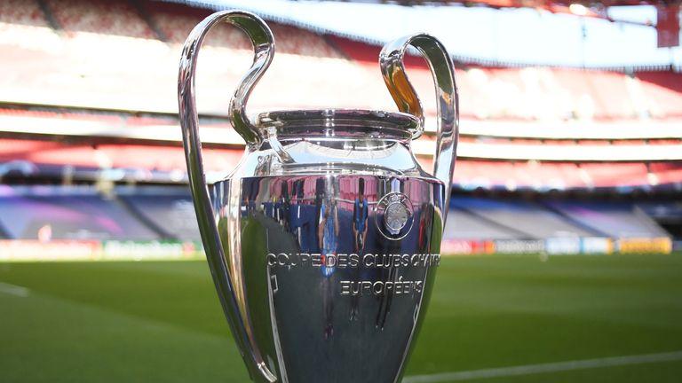 The Champions League title before tonight's final between Bayern Munich and Paris Saint-Germain.