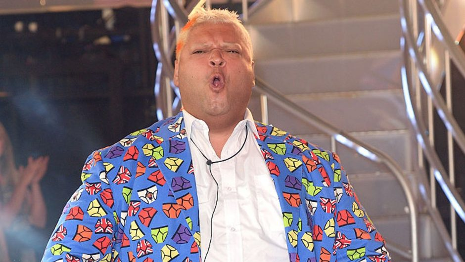 BOREHAMWOOD, ENGLAND - AUGUST 16: Heavy D becomes the 4th housemate evicted from Celebrity Big Brother 2016 at Elstree Studios on August 16, 2016 in Borehamwood, England. (Photo by Karwai Tang/WireImage)