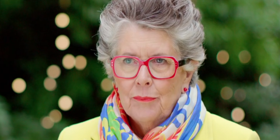 Great British Bake Off's Prue Leith reveals blue hair