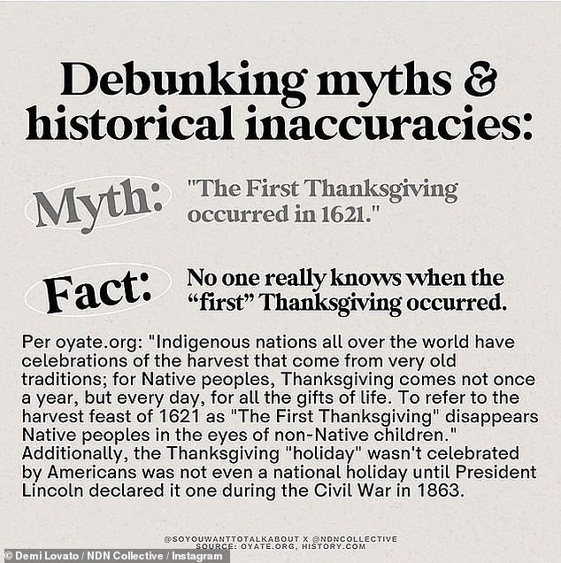 The First Thanksgiving Day: The photos debunk many myths about Thanksgiving, such as the first Thanksgiving in 1621, when in reality nobody really knows when the first feast happened.