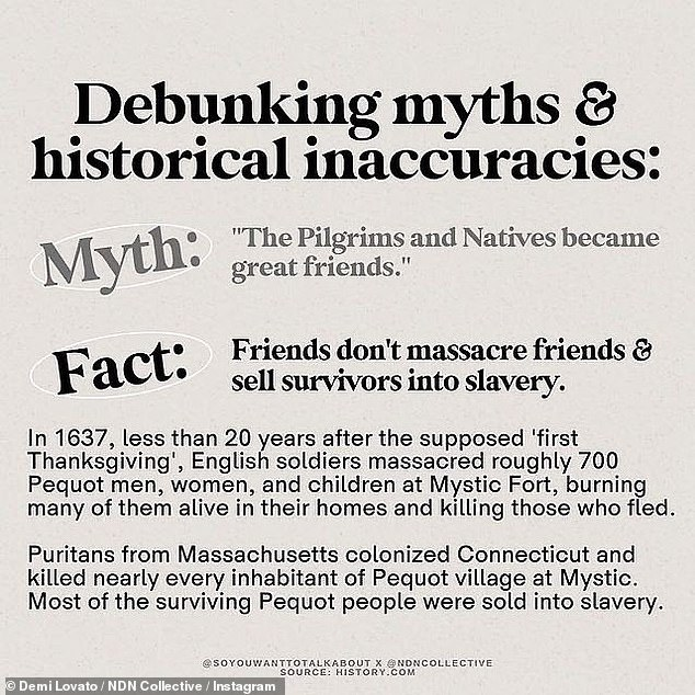 Not friends: Another myth revealed that the colonists invited the natives to the first Thanksgiving feast, although oral reports from the Wampanoag tribe reveal that an invitation was not extended to the natives.