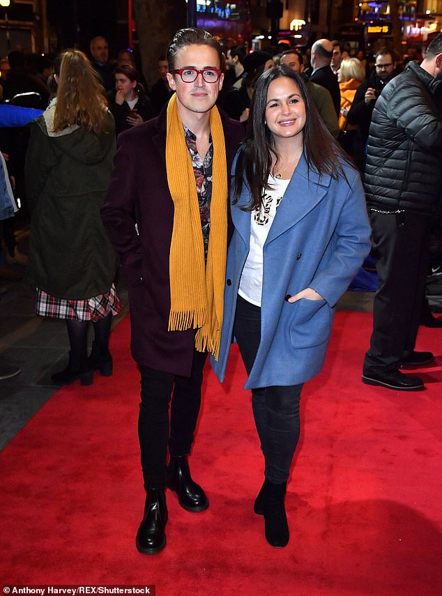 Sweethearts: Tom and Giovanna have been together since the age of 20 and they first met at Sylvia Young Theater School at just 13 years old