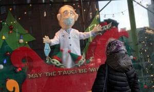 `` May The Fauci Be With You '' Christmas window, New York, USA, New York City, on November 29, 2020.