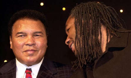 Muhammad Ali and Lennox Lewis met in London in January 2001.