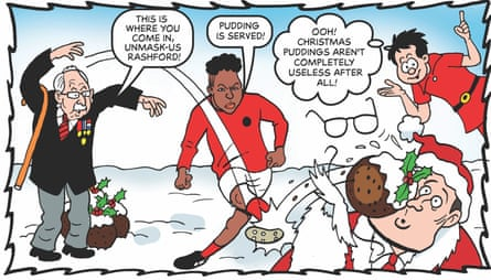 Captain Sir Thomas More and Marcus Rashford also appear in the BeanOLD special edition.