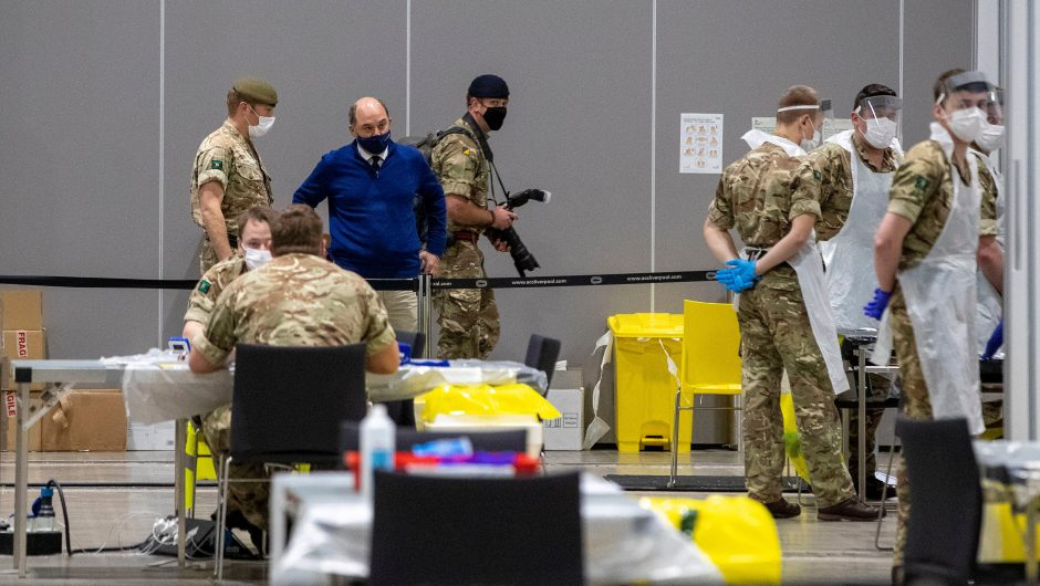 The army have been involved in rapid testing pilot scheme in Liverpool