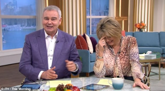 He said what ?!  Eamonn Holmes raised eyebrows on Friday this morning by making a very blunt remark to guest Ruth Jones