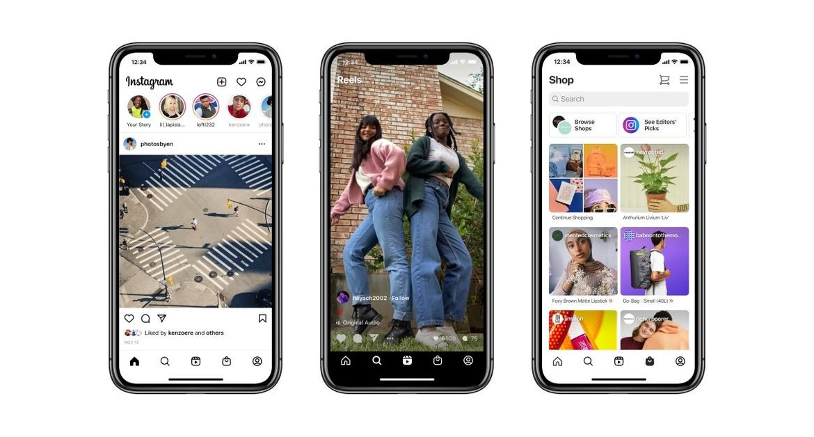 Instagram is redesigning its home screen for the first time in years, adding the Reels and Shop tabs