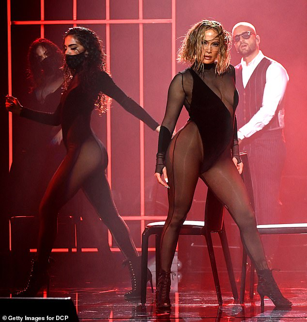 'Copy it all': Twitter users accused Jennifer Lopez of copying Beyonce's Drunk In Love performance at the American Music Awards Sunday night