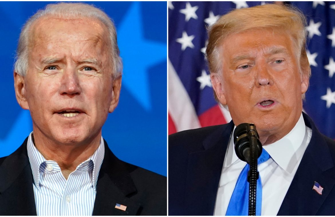 Joe Biden urges America to `` stay calm '' as `` every ballot must count '' after Donald Trump's pledge to legally challenge