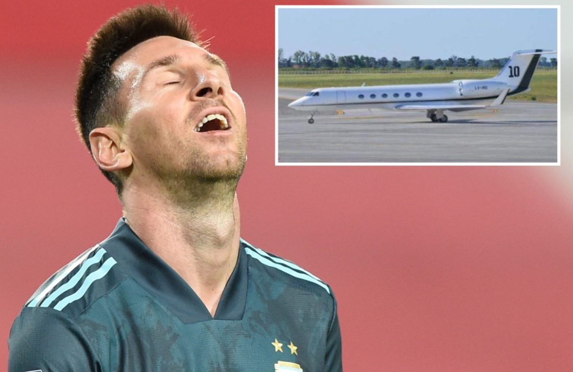 Lionel Messi has a private jet that was broken into by the Spanish tax agency on a runway at Barcelona airport because he is angry, 'He's crazy'