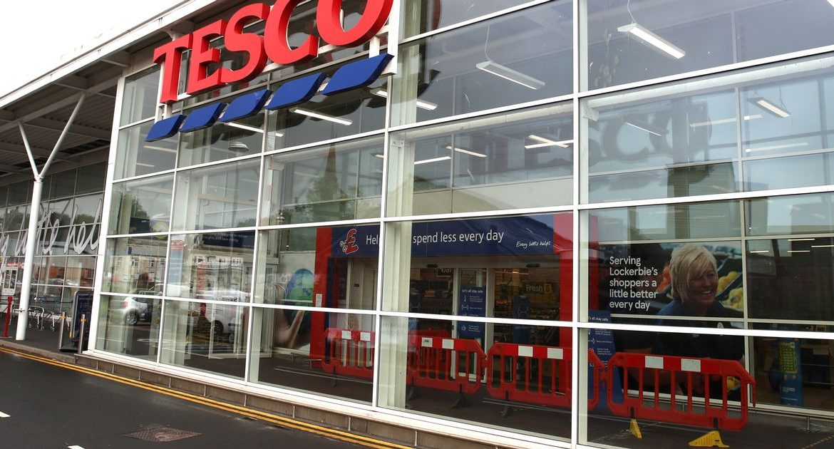 Tesco is closing some non-essential sections of its English stores
