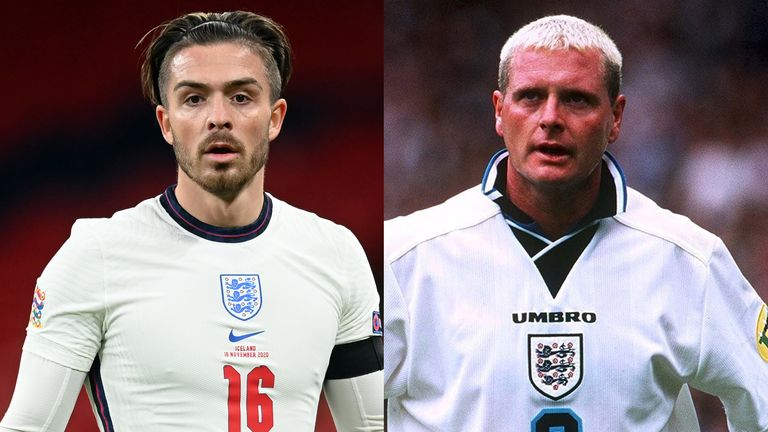 Jack Grealish's recent performances for England have been compared to Paul Gascoigne's performance